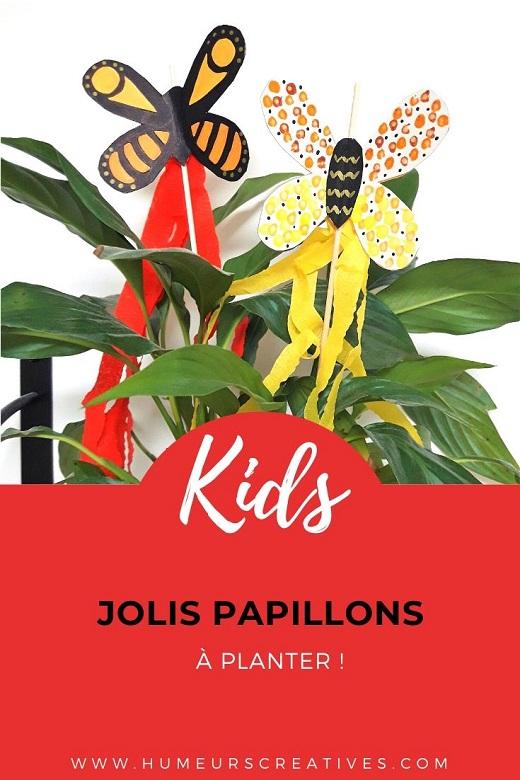 Bricolage pour enfant : un papillon à planter