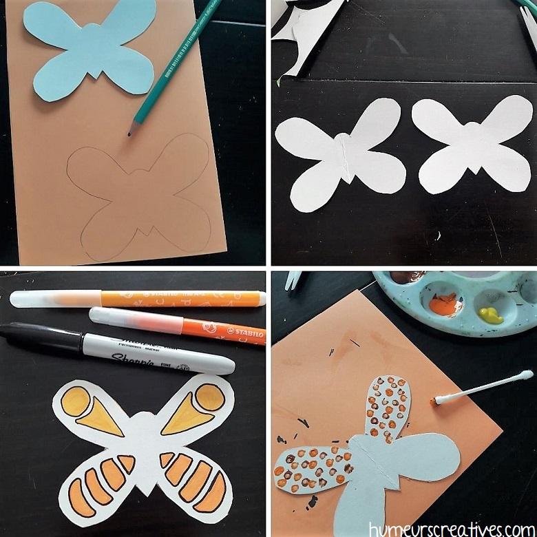 découper et décorer les papillons avec les enfants