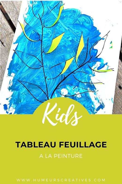 Réaliser un joli tableau feuillage avec les enfants