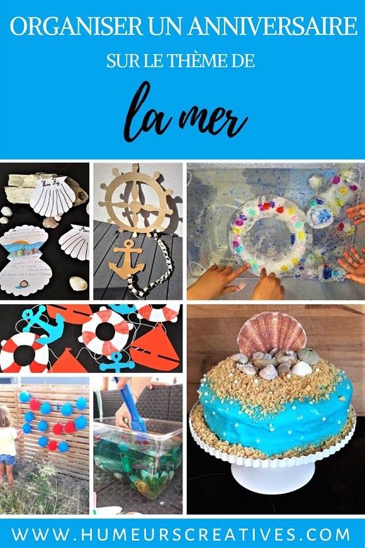 anniversaire enfant sur le thème de la mer : décoration et activités pour gouter d'anniversaire