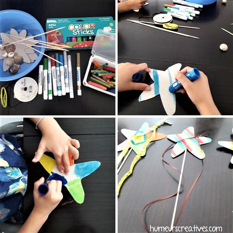 4ème jeu : fabriquer des baguettes magiques étoiles de mer