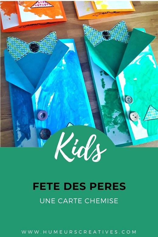 Cadeau pour la fete des pères : fabriquer une carte chemise avec les enfants