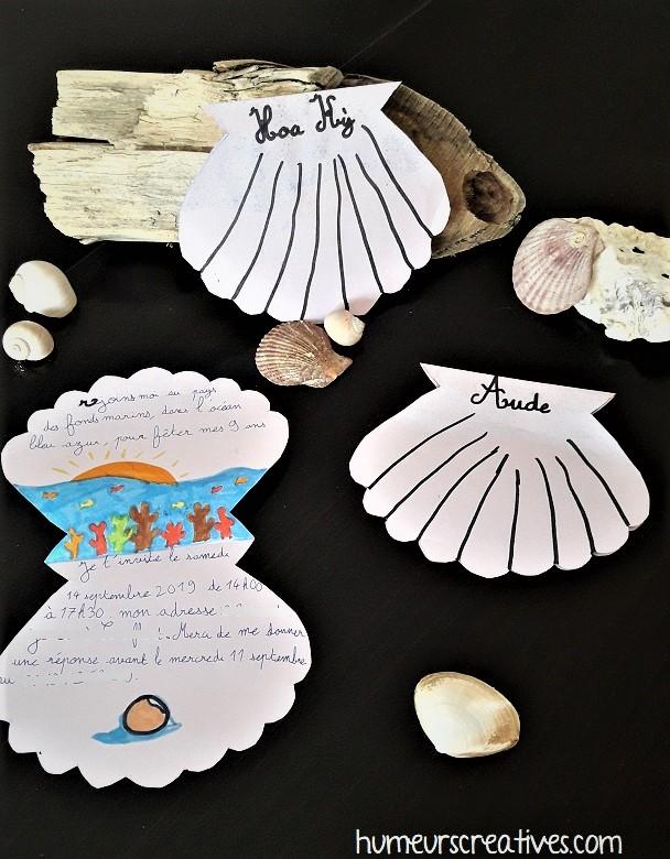 invitation anniversaire sur le thème de la mer