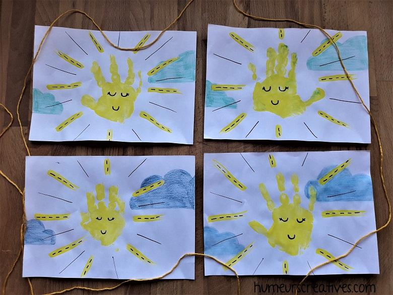 nos soleils en empreintes de mains
