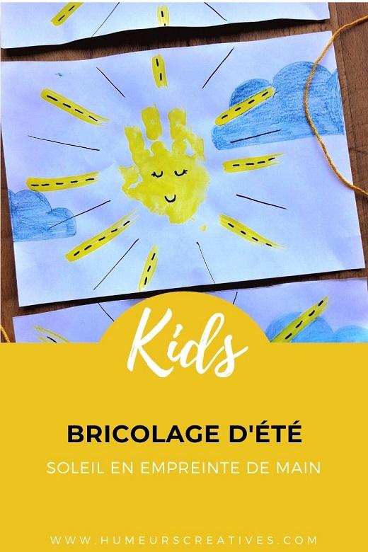 Bricolage pour enfant : réaliser des soleils avec les empreintes de mains des enfants