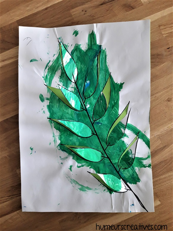tableau feuillage vert