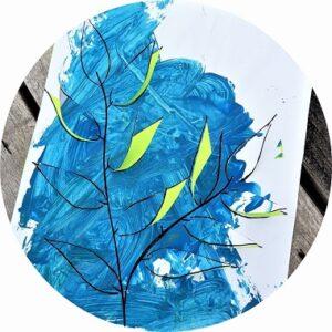 Tableau feuillage en peinture à faire avec les enfants