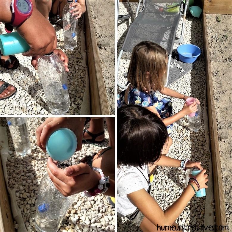 7ème jeu : remplir les bouteilles d'eau