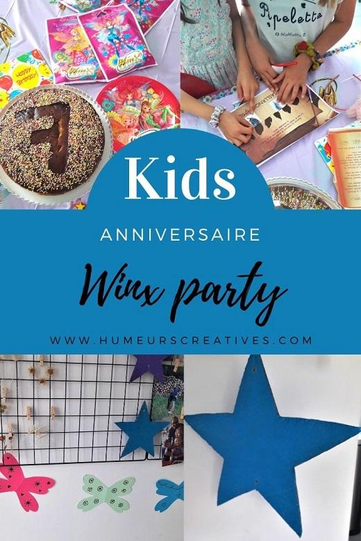 anniversaire pour enfant Winx party : idées de décoration et escape game