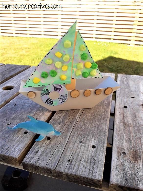 fabriquer un bateau à voile avec les enfants