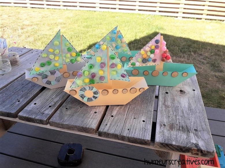 bricolage pour enfant : bateau à voile