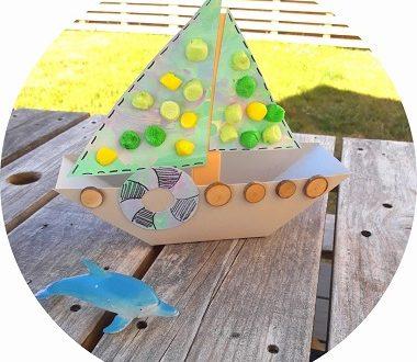 fabriquer un bateau à voile en papier avec les enfants