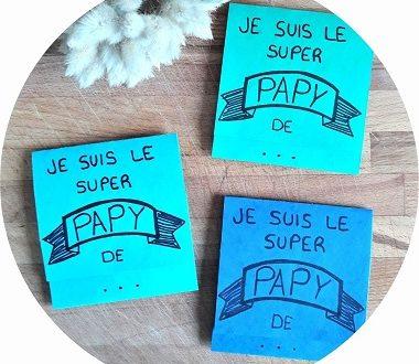 """Une carte """"super papy"""" pour la fete des grands pères"""