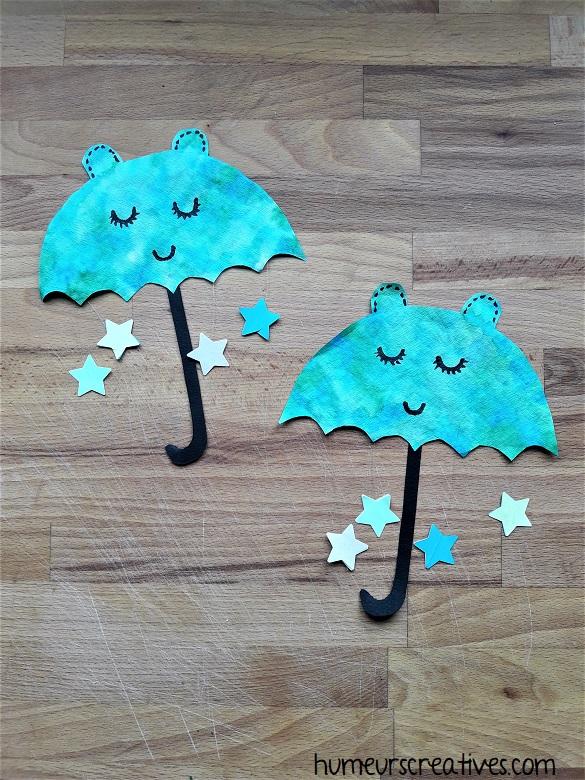 parapluies en filtre à café fabriqués par les enfants