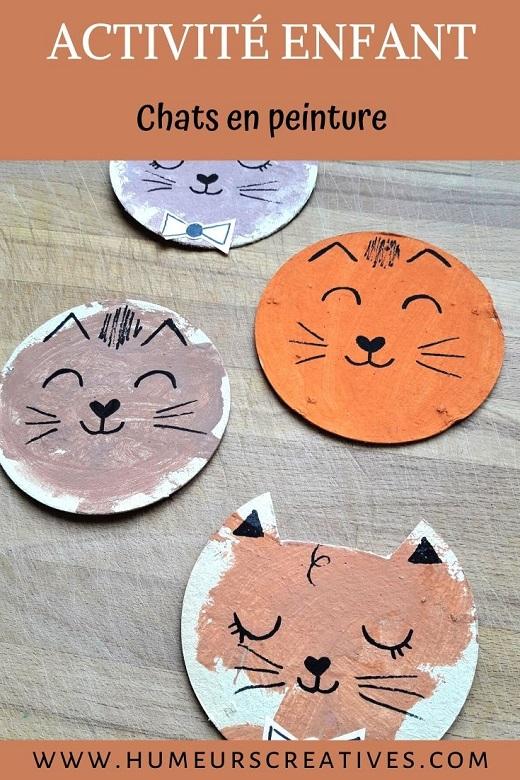 Bricolage pour enfant : un chat marionnette en peinture
