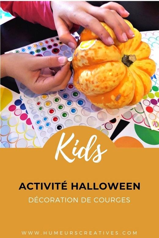 décorer des courges pour Halloween avec les enfants