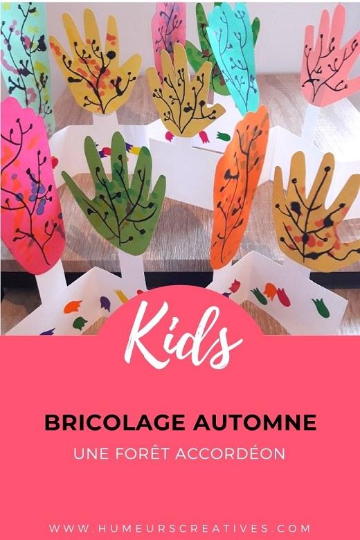 Bricolage d'automne : fabriquer une foret accordéon avec les enfants