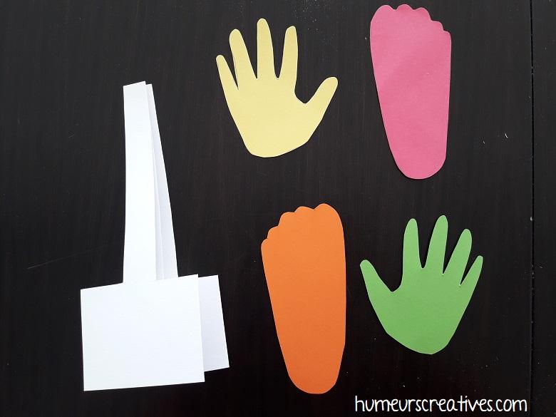 pour réaliser une forêt d'automne avec empreintes des enfants