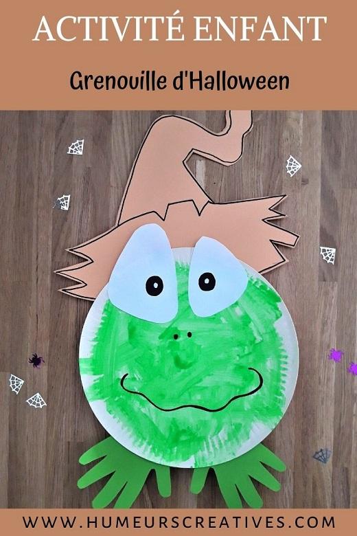 Activité manuelle pour enfants : une grenouille fabriqué avec une assiette en carton