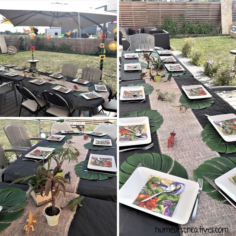 décoration de table anniversaire sur le theme jurassic parc