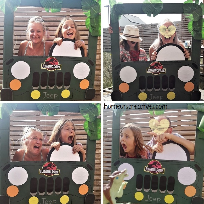 photobooth anniversaire jurassic park / jeep