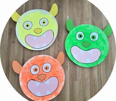 monstres rigolos à fabriquer avec les enfants pour Halloween