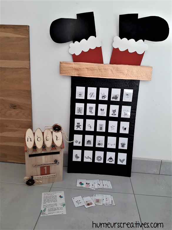 boite aux lettres de l'avent - jeu de mémory pour les enfants
