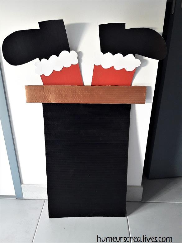 fabrication d'une cheminée de noel en carton