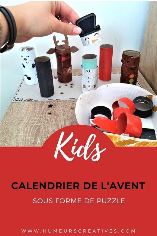 Fabriquer un calendrier de l'avent avec les enfants : des personnages de Noël en rouleaux de papier toilette