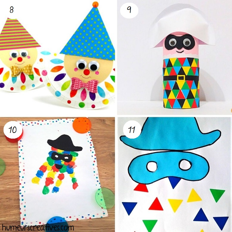 Bricolages arlequin à faire avec les enfants