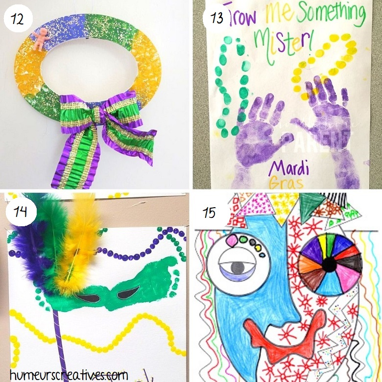 Bricolages pour Mardi Gras pour les enfants
