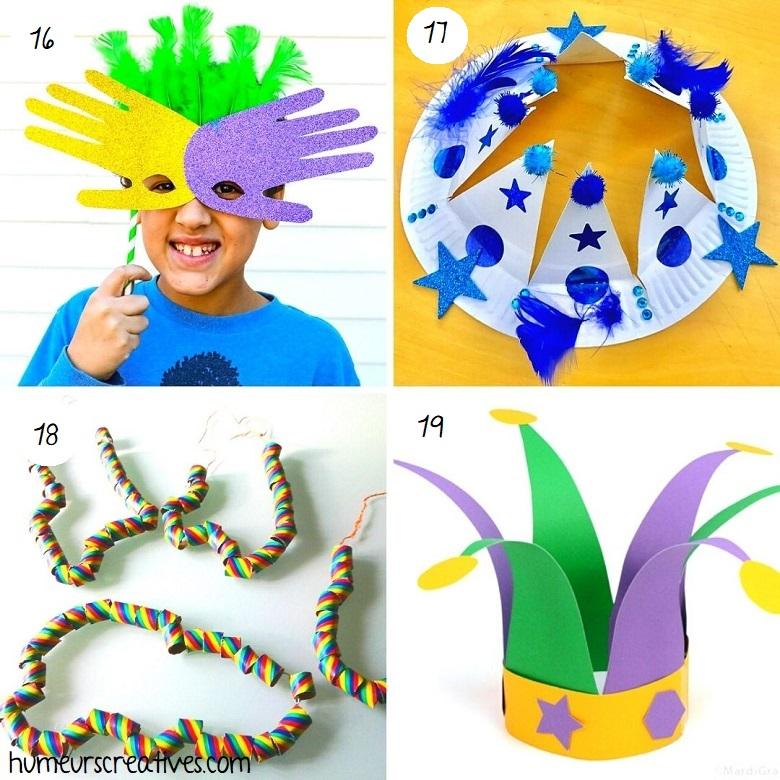 Bricolages déguisements pour Mardi Gras