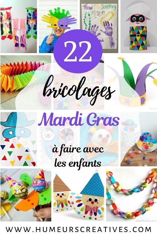22 bricolages sur Mardi Gras pour les enfants