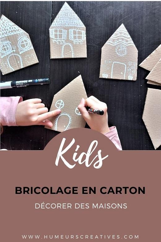 Activité manuelle pour enfants : fabriquer des maisons en carton