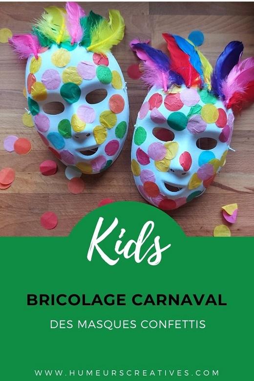 Bricolage Mardi Gras : des masques confettis à fabriquer avec les enfants