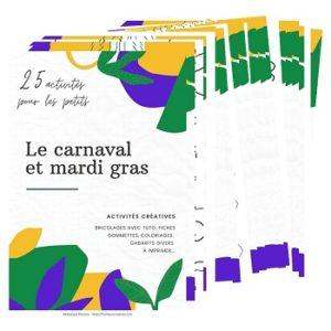 Visuel ebook 25 activités ppur les petits - Carnaval et Mardi Gras