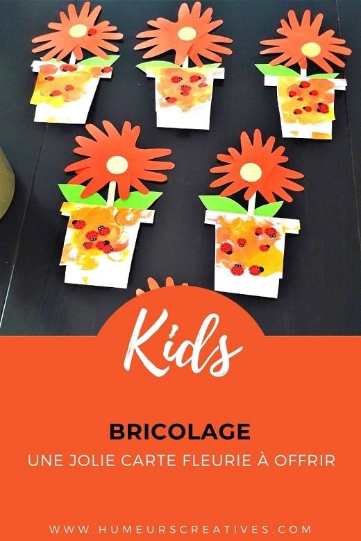 Bricolage pour la fête des mamies : une carte fleurie à fabriquer avec les enfants