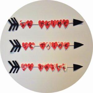 Bricolage pour enfants : la flèche de cupidon (saint valentin)