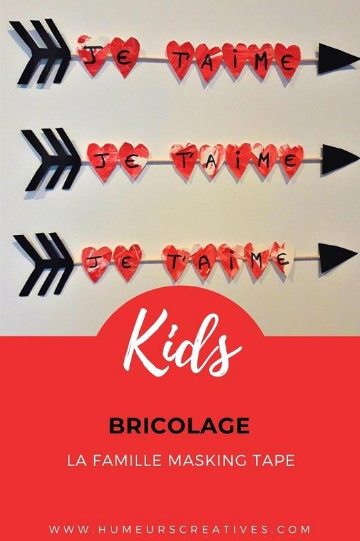 Bricolage pour la Saint Valentin : la flèche de Cupidon à fabriquer avec les enfants