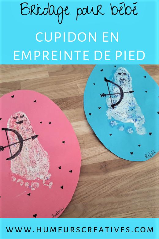 Bricolage pour enfants : réaliser un cupidon avec les empreintes de pied