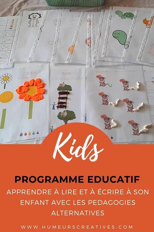 Programme pour enfants pour apprendre à lire et à écrire