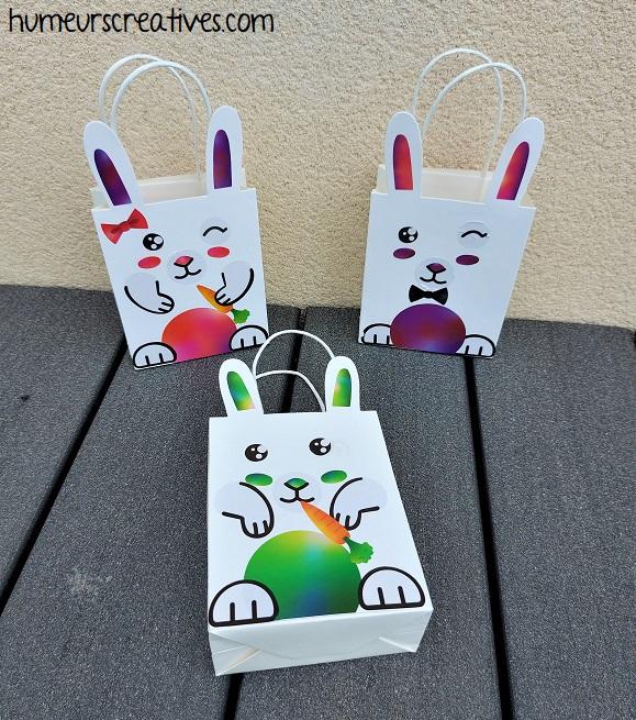 sachets lapins de paques