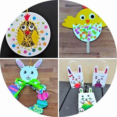 4 kit créatifs pour enfants sur Paques