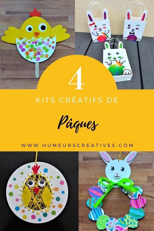 Activités Paques pour enfants : 4 kits créatifs