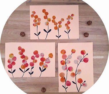 Bricolage pour enfants : fleurs des champs