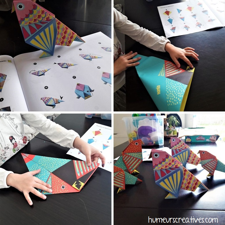 pliage origami oiseaux pas à pas