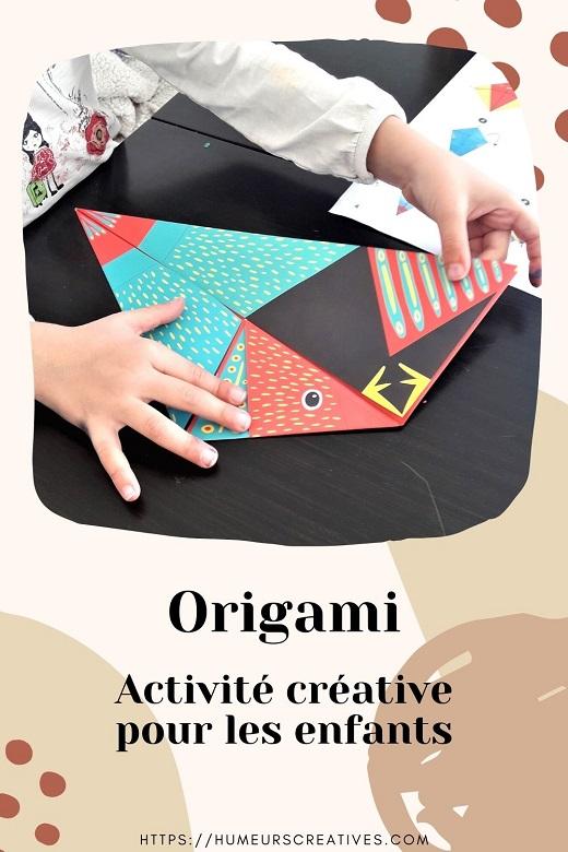 Idées d'activités créatives pour les enfants : origami