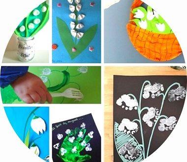 17 idées de bricolages pour enfants pour le 1er mai - muguet