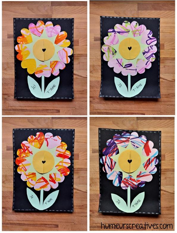 cadre fleurs et coeurs pour les mamans