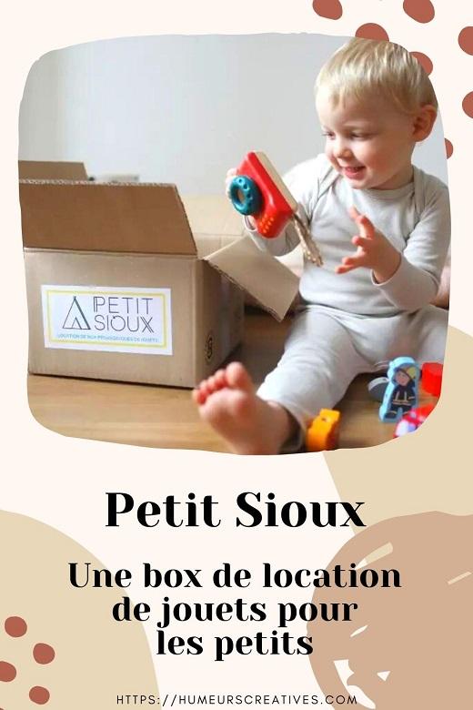 Box de location de jouets pour enfants avec Petit Sioux